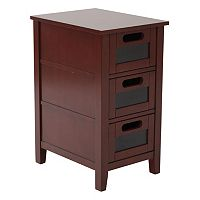 OSP Designs Avery 3-Drawer Chalkboard Side Table