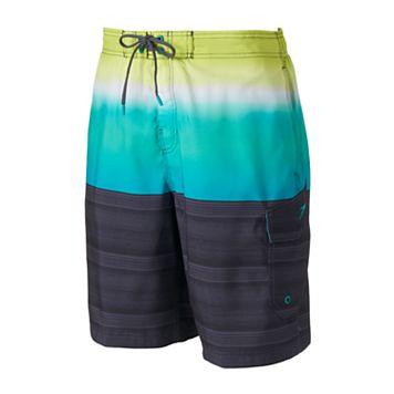 Men's Speedo Surging Striped Stretch Board Shorts