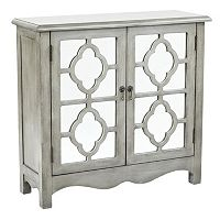 INSPIRED by Bassett Bayview Quatrefoil Mirror Storage Console