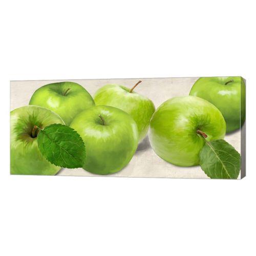 Metaverse Art Green Apples Canvas Wall Art