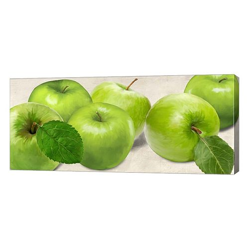 Metaverse Art Green Apples Canvas Wall Art