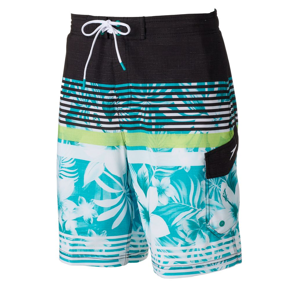 Men's Speedo Underline Floral VaporPLUS 4-Way Stretch Board Shorts