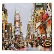 Metaverse Art Times Square Jam Canvas Wall Art