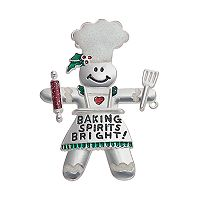 Gingerbread Man ''Baking Spirits Bright!'' Pin