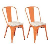 OSP Designs Bristow Metal Chair 2 pc Set