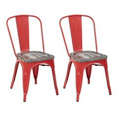 OSP Designs Bristow Metal Chair 2 pc Set