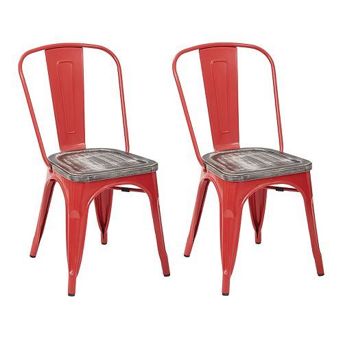 OSP Designs Bristow Metal Chair 2-piece Set