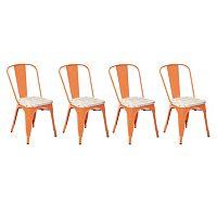 OSP Designs Bristow Metal Chair 4 pc Set