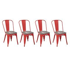 OSP Designs Bristow Metal Chair 4 pc Set