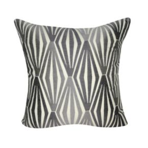 Loom and Mill Embroidered Diamond Geometric Throw Pillow