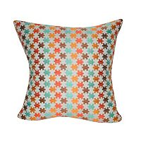 Loom and Mill Puzzle Geometric Throw Pillow