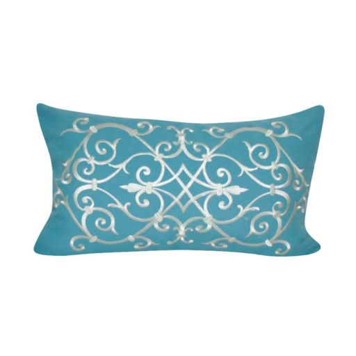 Loom and Mill Ironwork Scroll Oblong Throw Pillow