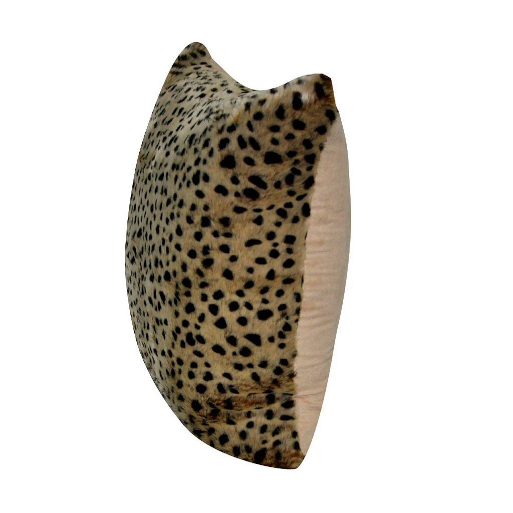 Loom and Mill Cheetah Faux Fur Throw Pillow
