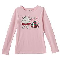 Girls 4-10 Jumping Beans® Christmas Graphic Tee