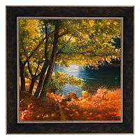 Metaverse Art Radura Sul Fiume Framed Canvas Wall Art