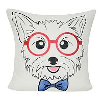 Loom and Mill Yorkie Face Throw Pillow