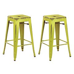 OSP Designs Bristow Stackable Metal Bar Stool 2-piece Set