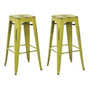 OSP Designs Bristow Metal Bar Stool 2 pc Set