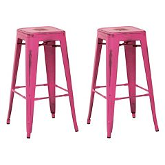 OSP Designs Bristow Metal Bar Stool 2-piece Set