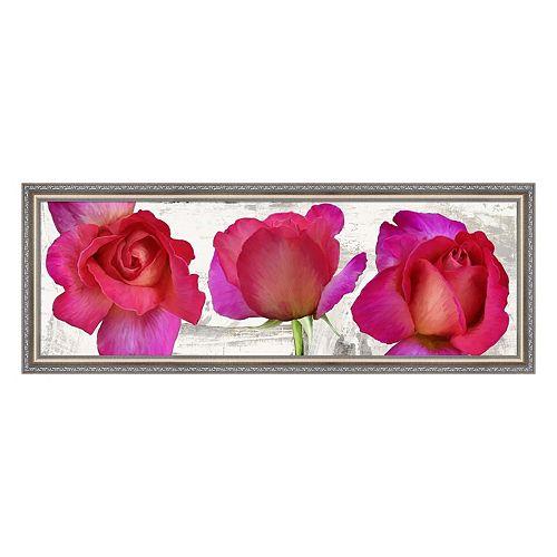 Metaverse Art Spring Roses Framed Canvas Wall Art