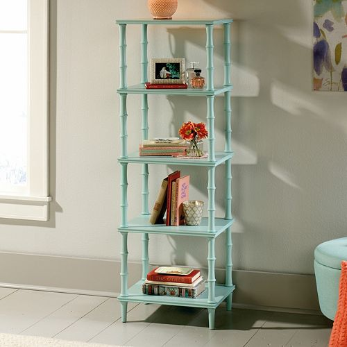 Sauder Eden Rue Tower Etagere 4-Shelf Bookcase