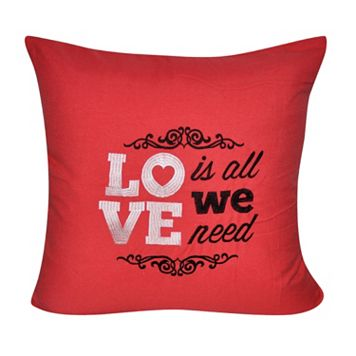 Loom and Mill ''Love Is All We Need'' II Throw Pillow