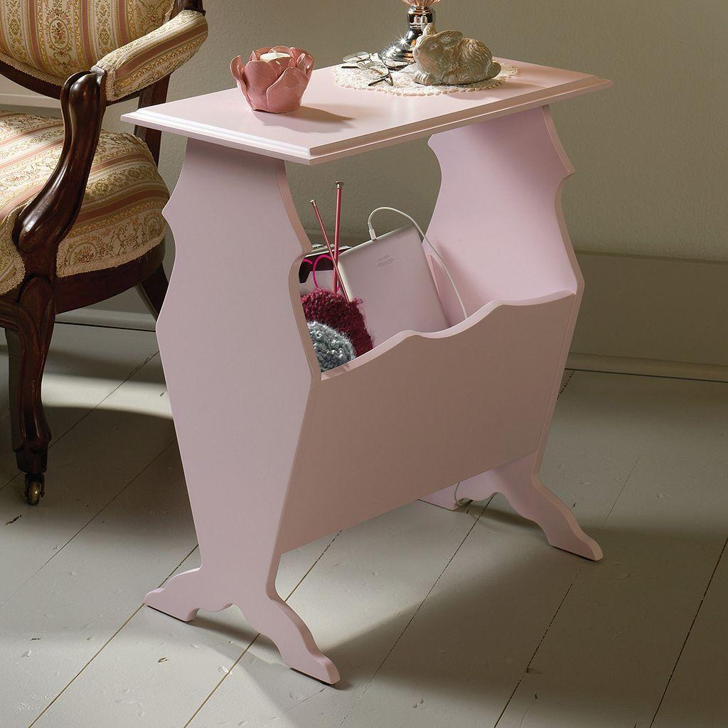Sauder Eden Rue Pink End Table