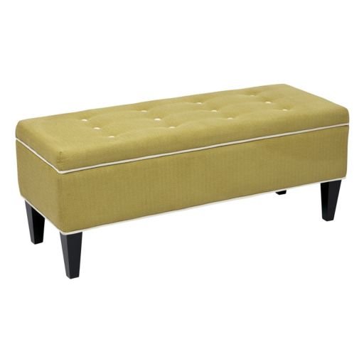 OSP Accents Cambridge Tufted Storage Bench