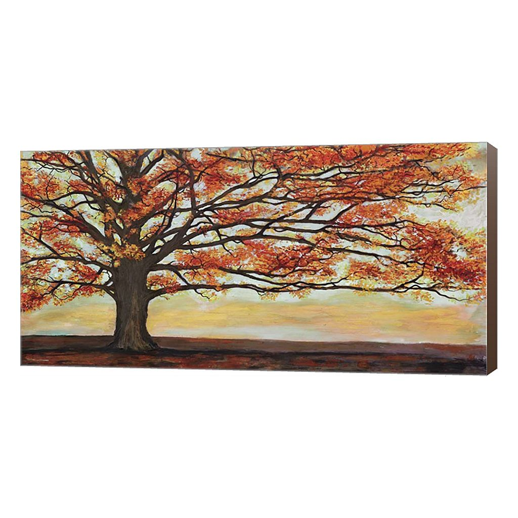 Metaverse Art Red Oak Canvas Wall Art