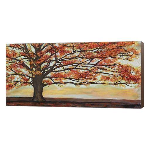 Metaverse Art Red Oak Canvas Wall Art