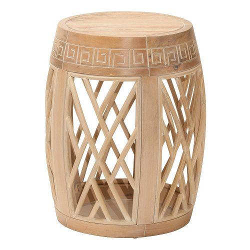 OSP Designs Wood Drum Table
