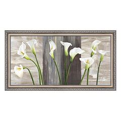 Metaverse Art Country Callas Framed Canvas Wall Art