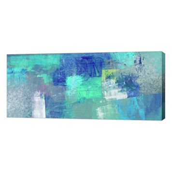 Metaverse Art Azure Canvas Wall Art