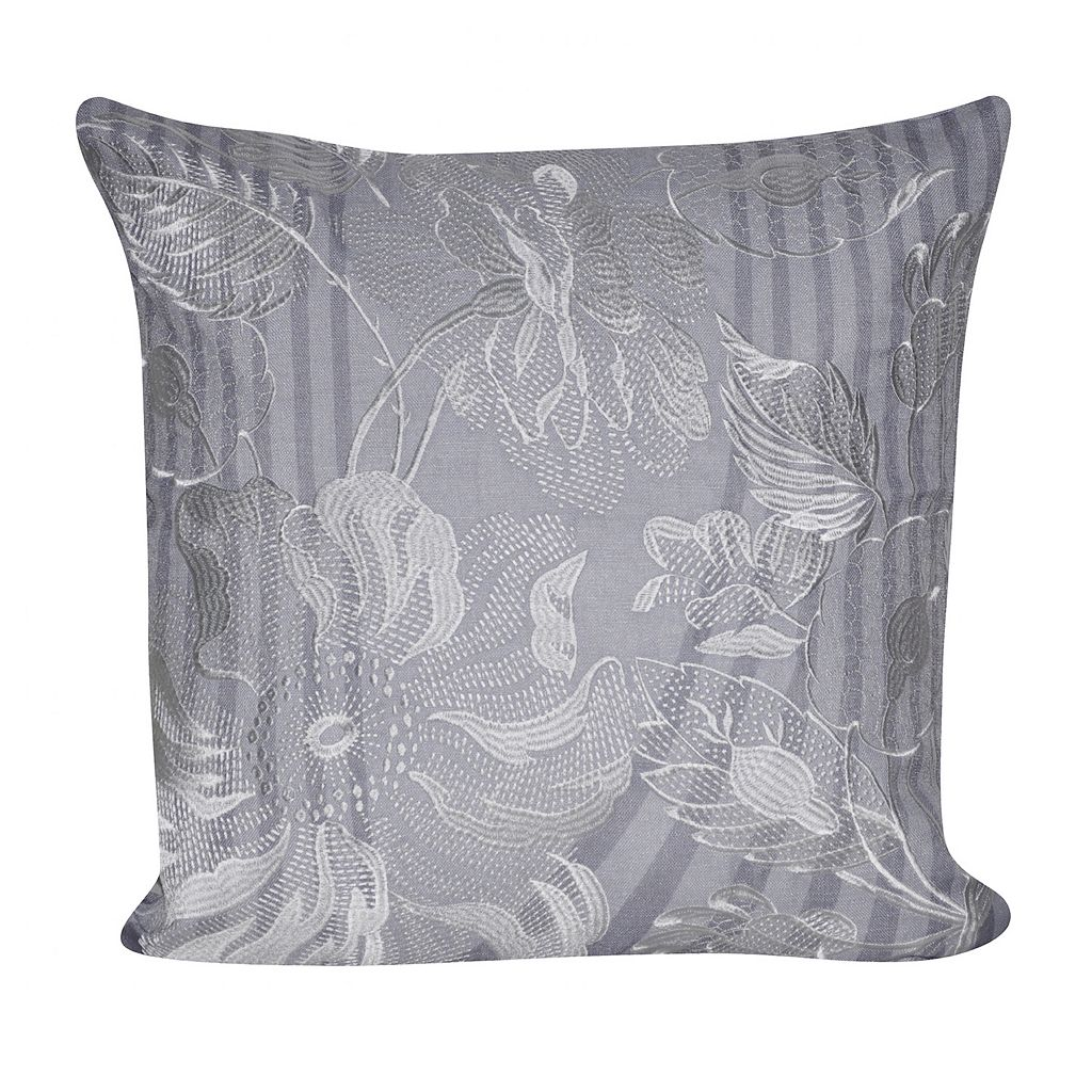 Loom and Mill Linear Flower Throw Pillow