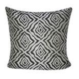 Loom and Mill Wavy Diamonds Geometric Indoor Outdoor Throw Pillow