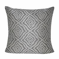 Loom and Mill Wavy Diamonds Geometric Indoor Outdoor Throw Pillow