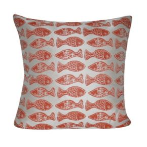 Loom and Mill School of Fish Indoor Outdoor Throw Pillow