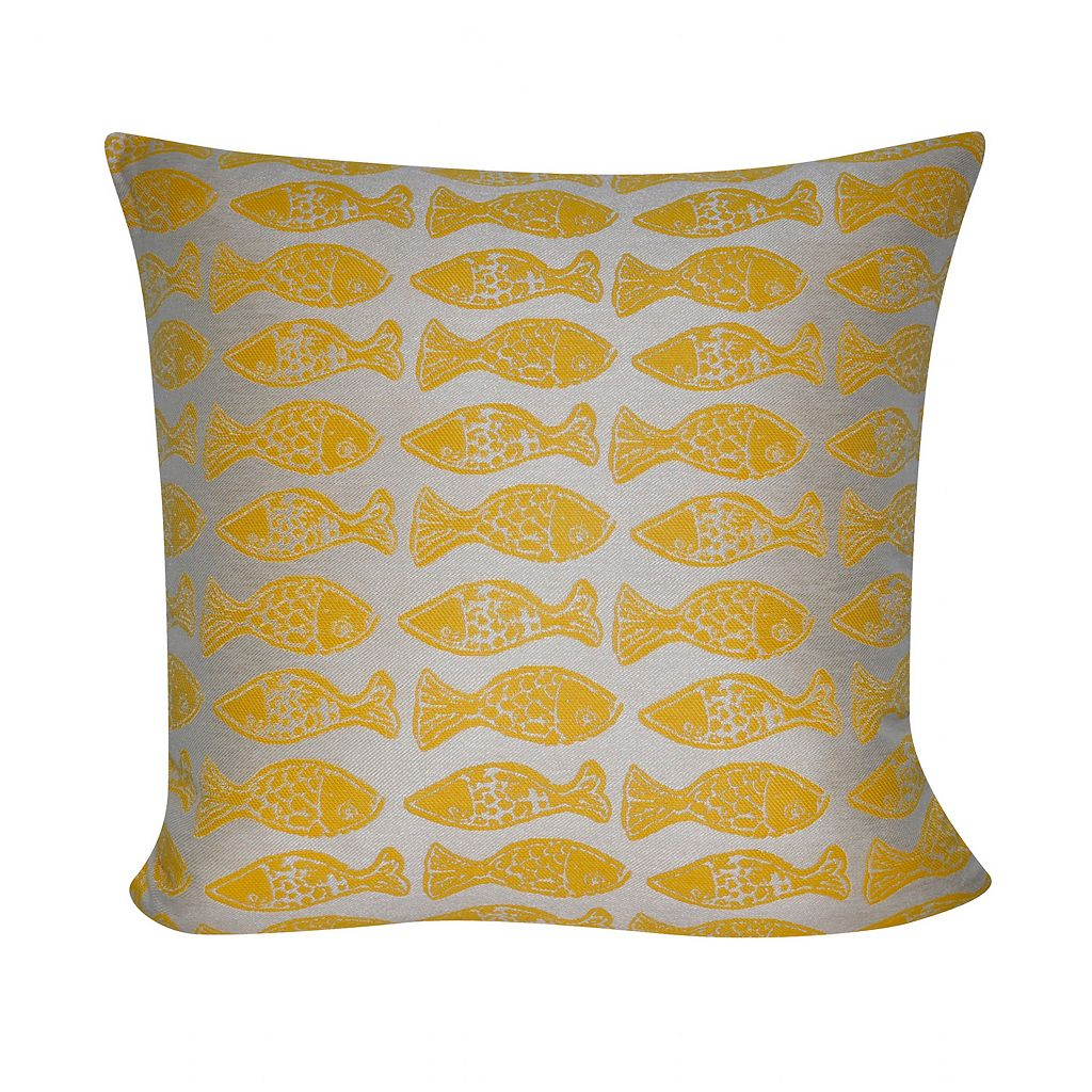 Loom and Mill School of Fish Indoor Outdoor Throw Pillow