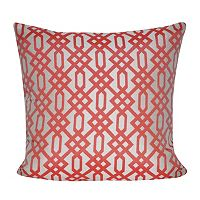 Loom and Mill Ornate Lattice Indoor Outdoor Throw Pillow
