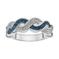 Silver Luxuries Crystal Twist Ring