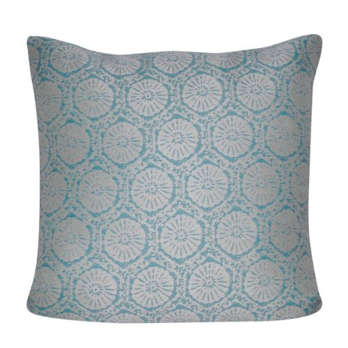 Loom and Mill Stamped Medallions Indoor Outdoor Throw Pillow