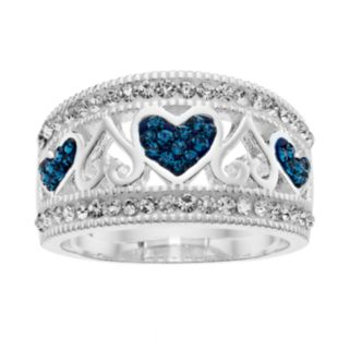 Silver Luxuries Crystal Heart Ring