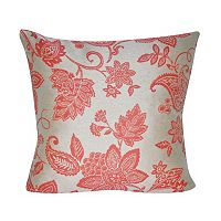 Loom and Mill Paisley Flower Indoor Outdoor Throw Pillow