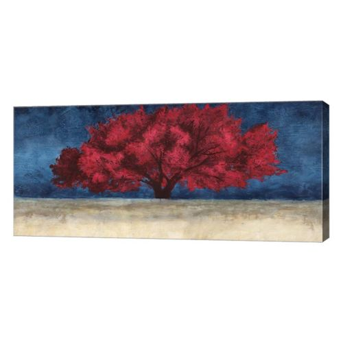 Metaverse Art Red Tree Canvas Wall Art