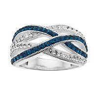Silver Luxuries Crystal Woven Ring