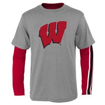 Boys 8-20 Wisconsin Badgers Squad Tee Set