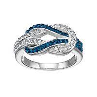 Silver Luxuries Crystal Infinity Loop Ring
