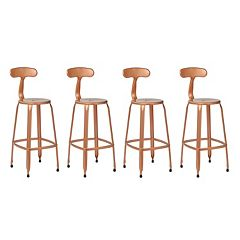 OSP Designs Lexington Distressed Metal Bar Stool 4 pc Set