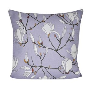 Loom and Mill Japanese Magnolias Throw Pillow