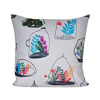 Loom and Mill Terrariums Throw Pillow